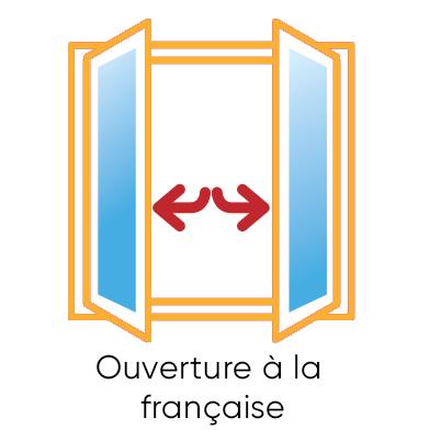 fenêtre ouverture à la française sur mesure